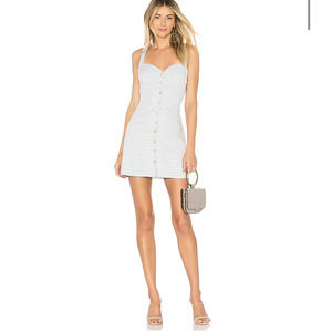 NWT Revolve L'Academie The Hawes Dress in Chambray